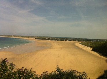 The glorious beach in front of Nestledown