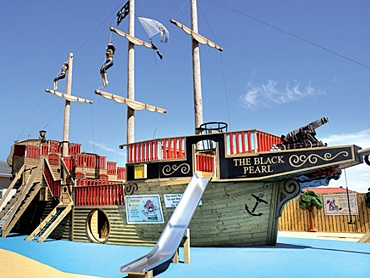 Black Pearl adventure play area at Sandymouth Bay Holiday Park