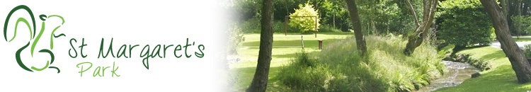 St Margarets Park grounds and logo