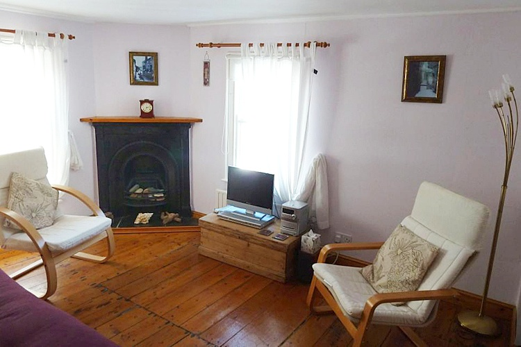 The lounge has a feature traditional fireplace