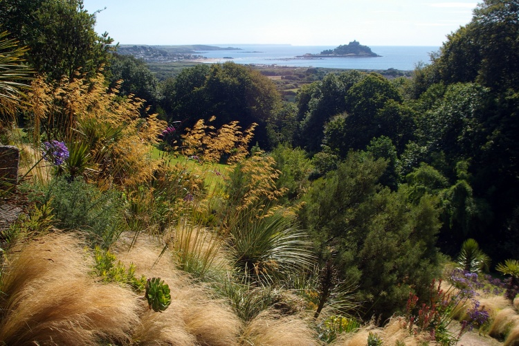 Tremenheere Sculpture Garden with views overlooking Mounts Bay
